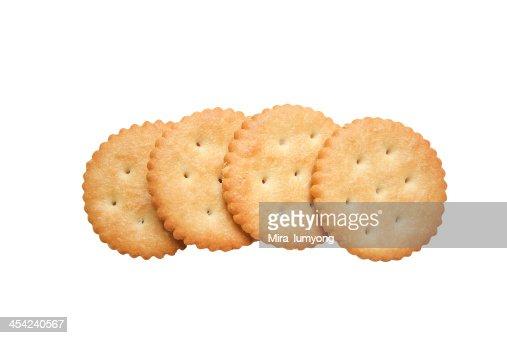 Crackers isolated on white background : Stock Photo