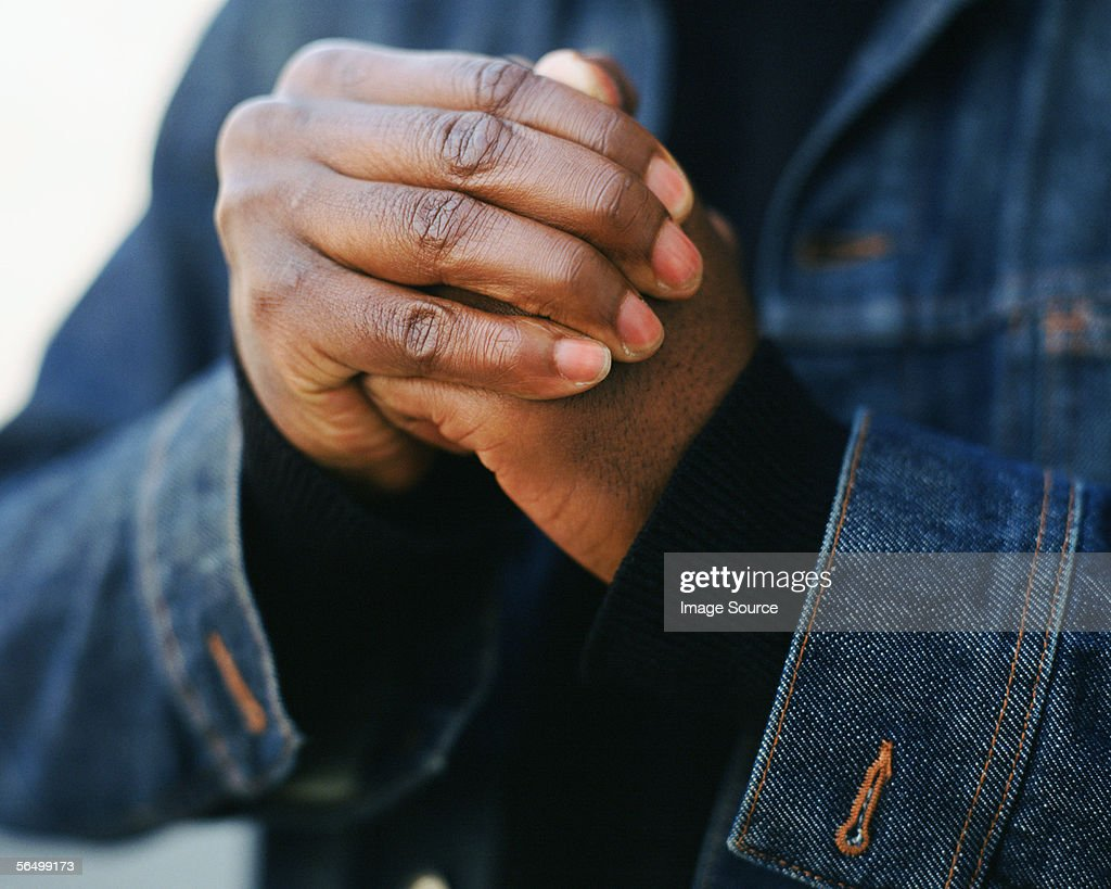 Cracking knuckles : Stock Photo