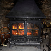 Crackling Fire in Wood Stove