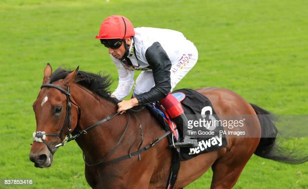 Cracksman ridden by Frankie Dettori wins the Betway Great Voltigeur Stakes during Juddmonte International Day of the Yorkshire Ebor Festival at York...