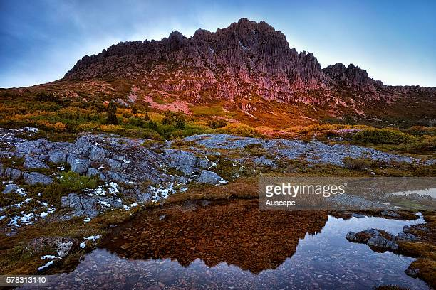 Cradle Mountain at sunset Cradle MountainLake St Clair National Park Tasmania Australia