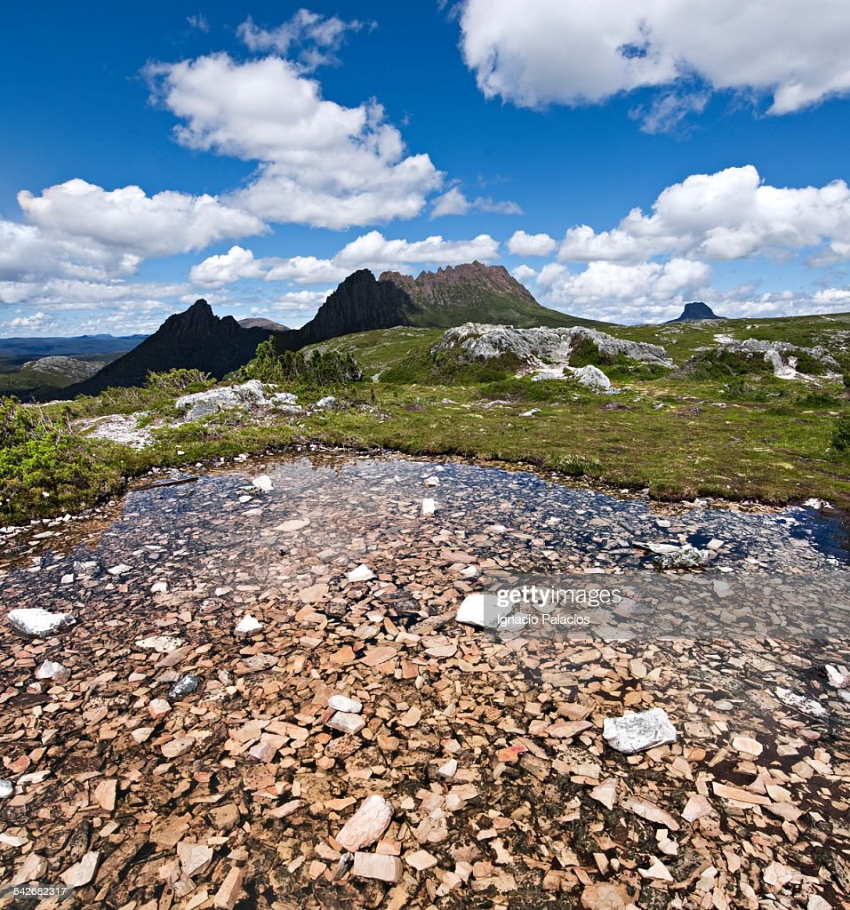 Cradle Mountain in the Overland Track : Stock Photo
