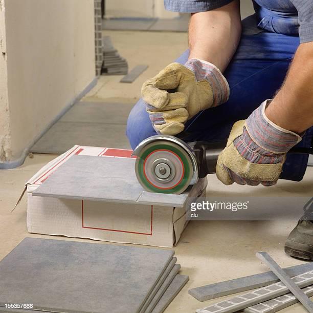 Craftsman cutting stone plates