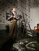 craftsman in flooded room