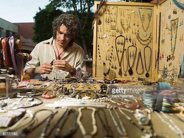 A craftsperson on the street