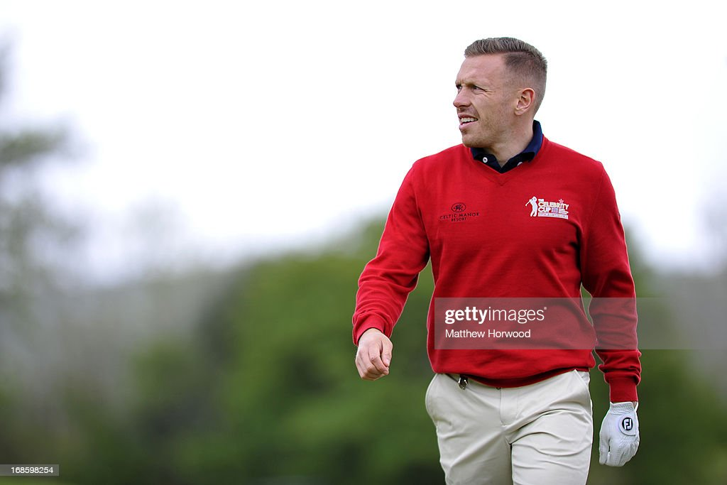 Craig Bellamy looks on at the Celebrity Golf Club Live event at Celtic Manor Resort on May 12, 2013 in Newport, Wales.