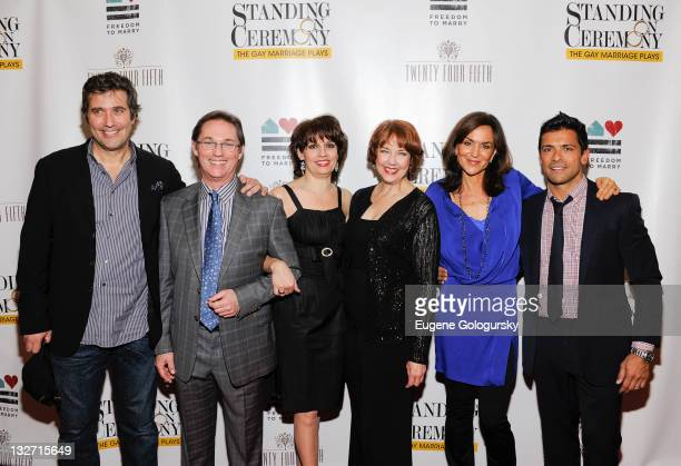 Craig Bierko Richard Thomas Beth Leavel Harriet Harris Polly Draper and Mark Consuelos attend the 'Standing on Ceremony The Gay Marriage Plays'...