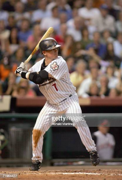 Craig Biggio of the Houston Astros stands at bat during the game against the Cincinnati Reds September 19 2006 at Minute Maid Park in Houston Texas