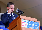 Craig Biggio speaks during the Hall of Fame Induction Ceremony at National Baseball Hall of Fame on July 26 2015 in Cooperstown New York Biggio was...