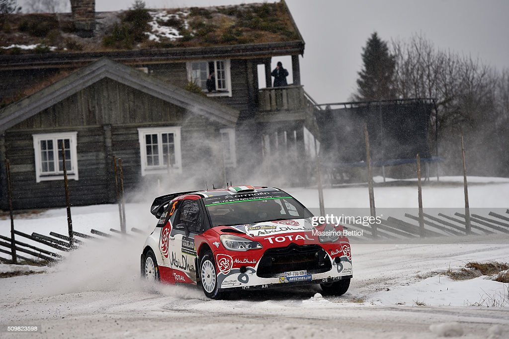Craig Breen of Ireland and Scott Martin of Great Britain compete in their Abu Dhabi Total WRT Citroen DS3 WRC during Day One of the WRC Sweden on February 12, 2016 in Karlstad, Sweden.