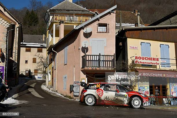 Craig Breen of Ireland and Scott Martin of Great Britain compete in their Citroen Total Abu Dhabi WRT Citroen DS3 WRC during Day Two of the WRC...
