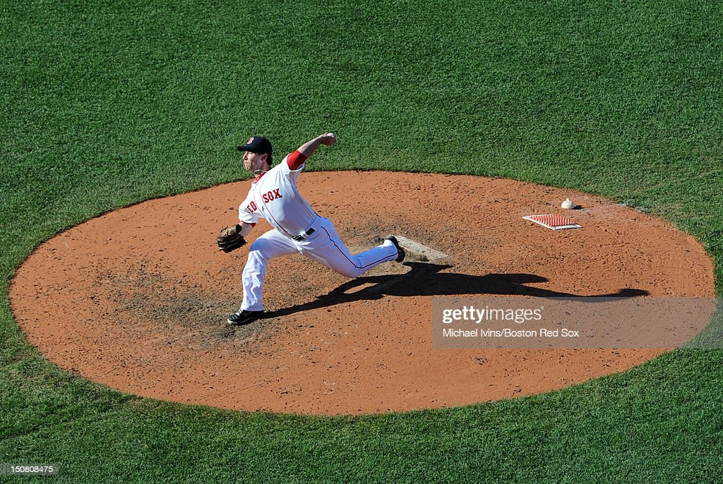 <a gi-track='captionPersonalityLinkClicked' href=/galleries/search?phrase=Craig+Breslow&family=editorial&specificpeople=836367 ng-click='$event.stopPropagation()'>Craig Breslow</a> #32 of the Boston Red Sox pitches against the Kansas City Royals in the eighth inning on August 26, 2012 at Fenway Park in Boston, Massachusetts.