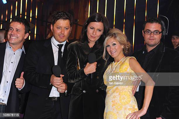 Craig Brian Dowling Davina McCall and Nikki Grahame gather at the finale of Ultimate Big Brother on September 10 2010 in Borehamwood England