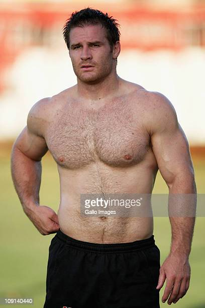 Craig Burden looks on during a Sharks Super Rugby training session at Mr Price Kings Park Stadium on February 15 2011 in Durban South Africa