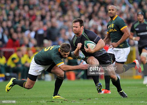 Craig Burden of the World XV in action during the International match between South Africa and World XV at DHL Newlands Stadium on June 07 2014 in...