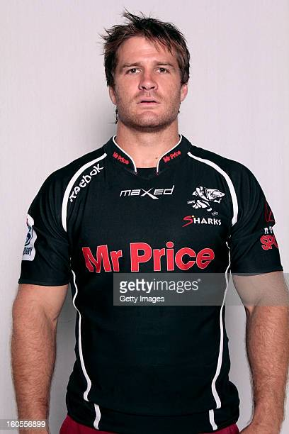 Craig Burden poses during the official 2013 Cheetahs Headshots session at Free State Stadium on January 15 2013 in Durban South Africa