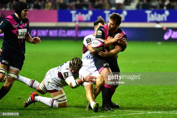 Craig BURDEN / Sofiane GUITOUNE / Berend BOTHA Stade Francais / Bordeaux Begles 10eme journee de Top 14 Photo Dave Winter / Icon Sport