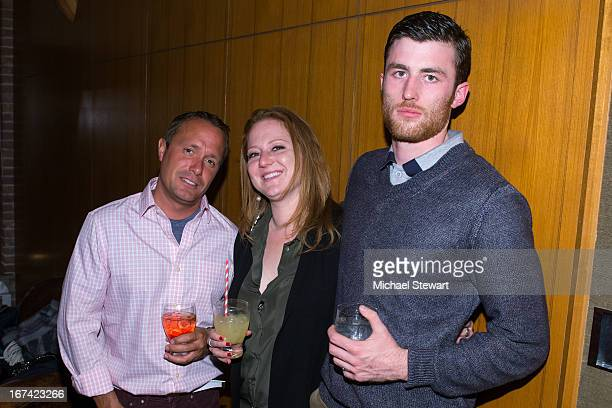 Craig Callahan Nicole Lederman and James Frecheville attend Alvin Valley 'Belle De Jour' Intimate Dinner Party on April 24 2013 in New York City