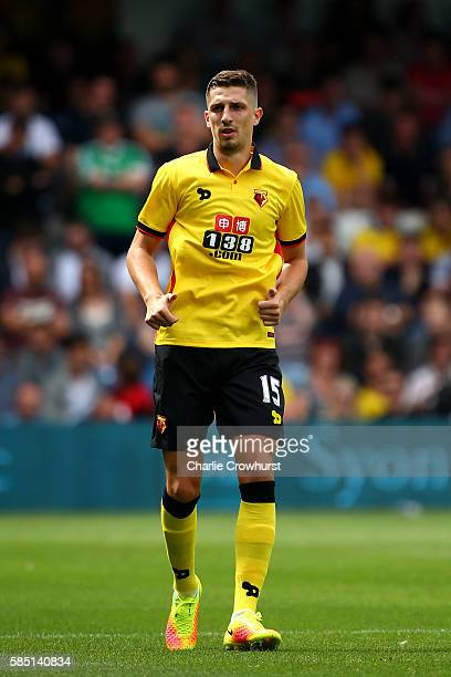 Craig Cathcart of Watford during the pre season friendly match between Queens Park Rangers and Watford at Loftus Road on July 30 2016 in London...