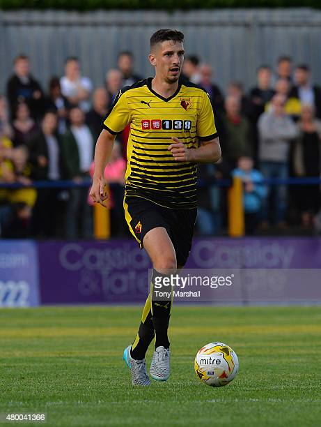 Craig Cathcart of Watford during the Pre Season Friendly match between St Albans City and Watford at Clarence Park on July 8 2015 in St Albans England