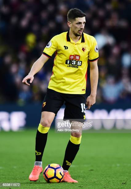 Craig Cathcart of Watford in action during the Premier League match between Watford and Burnley at Vicarage Road on February 4 2017 in Watford England