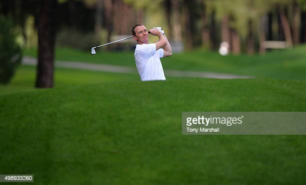 Craig Corrigan of Chilli Dip Golf Academy during the first round of the PGA PlayOffs at the Antalya Golf ClubPGA Sultan Course on November 27 2015 in...