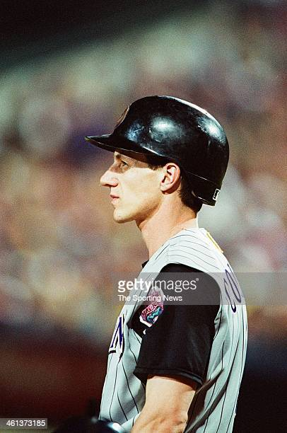 Craig Counsell of the Arizona Diamondbacks during Game Five of the National League Championship Series against the Atlanta Braves on October 21 2001...