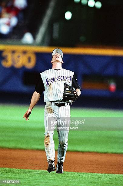 Craig Counsell of the Arizona Diamondbacks during Game Four of the National League Championship Series against the Atlanta Braves on October 20 2001...