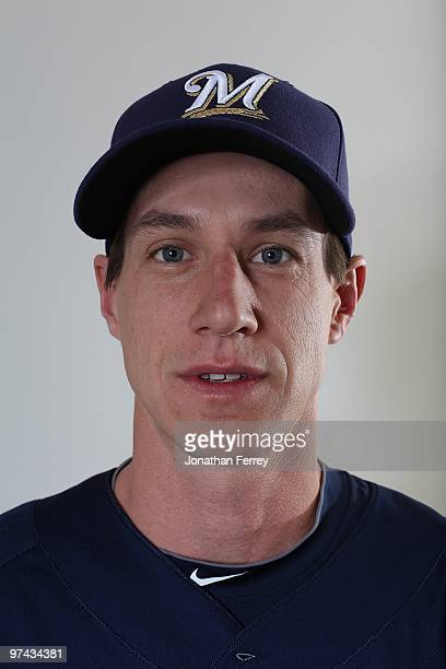 Craig Counsell poses for a portrait during the Milwaukee Brewers Photo Day at the Maryvale Baseball Park on March 1 2010 in Maryvale Arizona