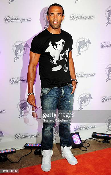 Craig David arrives at the Miami Dolphins versus the New England Patriots game at Sun Life Stadium on October 4 2010 in Miami Florida