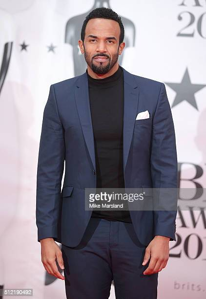 Craig David attends the BRIT Awards 2016 at The O2 Arena on February 24 2016 in London England