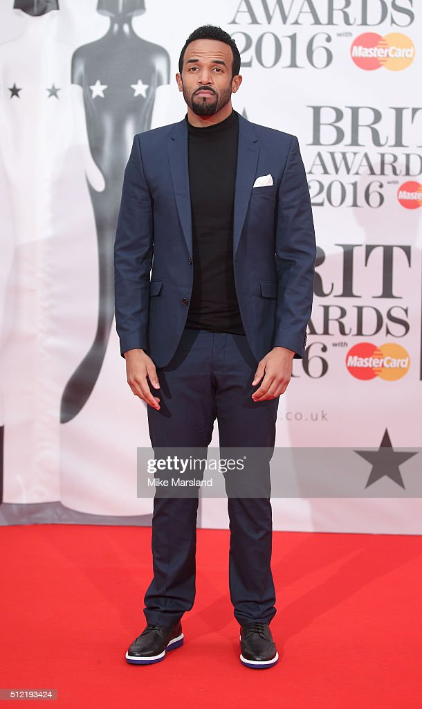 Craig David attends the BRIT Awards 2016 at The O2 Arena on February 24, 2016 in London, England.