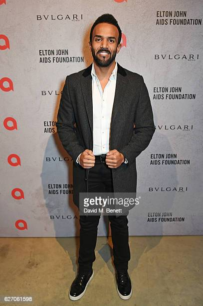 Craig David attends 'The Radical Eye' dinner and private view for the Elton John Aids Foundation in association with Bulgari on December 1 2016 in...