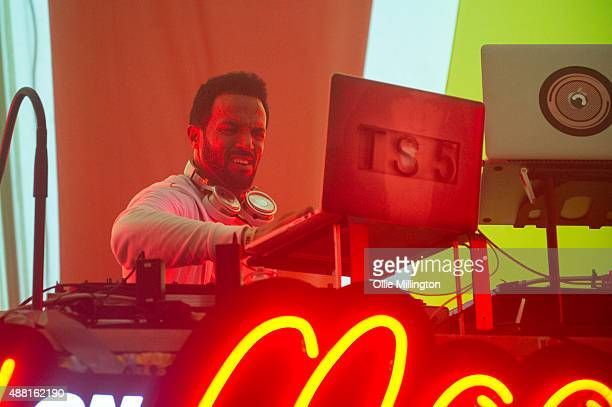 Craig David host a TS5 party performing in the Bollywood tent during day 4 of Bestival 2015 at Robin Hill Country Park on September 13 2015 in...