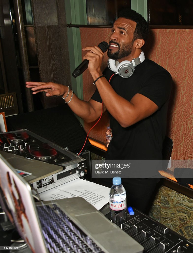 Craig David performs and DJs at the Sony Music UK Summer Party at Sexy Fish on July 13, 2016 in London, England.