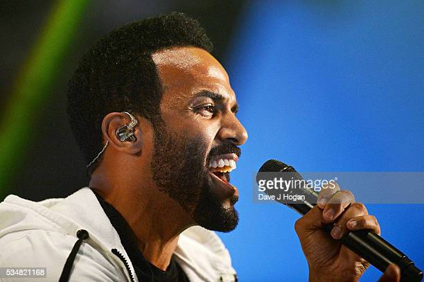 Craig David performs during day 1 of BBC Radio 1's Big Weekend at Powderham Castle on May 28 2016 in Exeter England