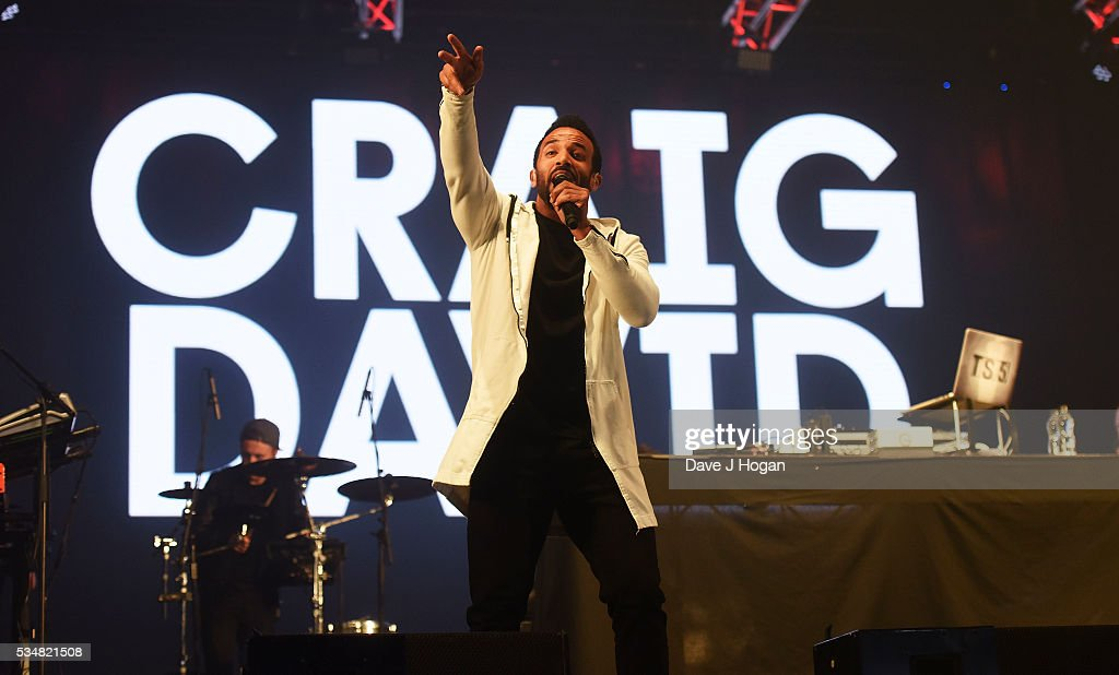 <a gi-track='captionPersonalityLinkClicked' href=/galleries/search?phrase=Craig+David&family=editorial&specificpeople=210646 ng-click='$event.stopPropagation()'>Craig David</a> performs during day 1 of BBC Radio 1's Big Weekend at Powderham Castle on May 28, 2016 in Exeter, England.