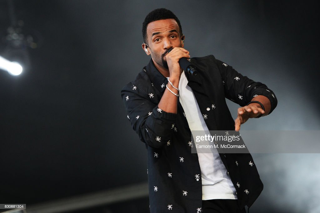 Craig David performs following The Dubai Duty Free Shergar Cup at Ascot Racecourse on August 12, 2017 in Ascot, England.
