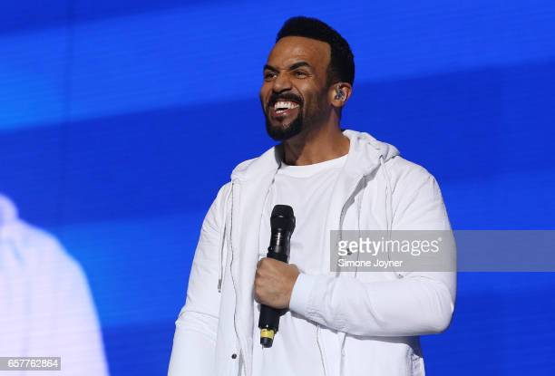 Craig David performs live on stage at the O2 Arena on March 25 2017 in London United Kingdom