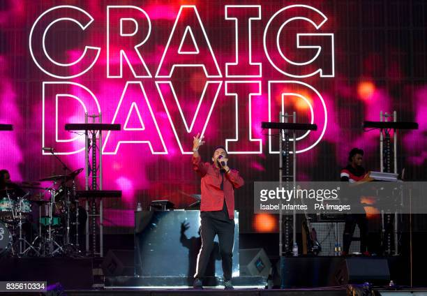 Craig David performs on the Supervene Stage at the V Festival in Hylands Park Chelmsford
