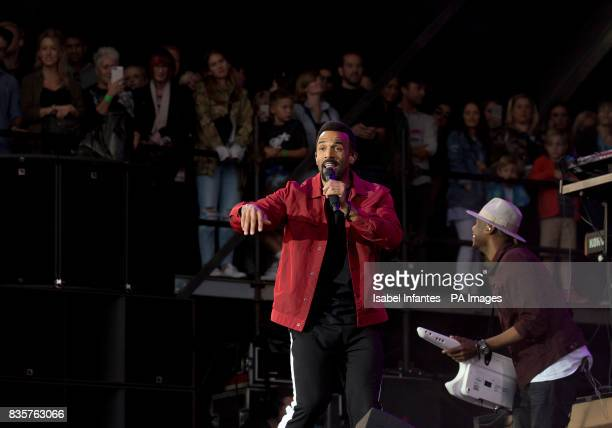 Craig David plays at the Supervene Stage during the V Festival at Hylands Park in Chelmsford Essex Picture date Saturday August 19 2017
