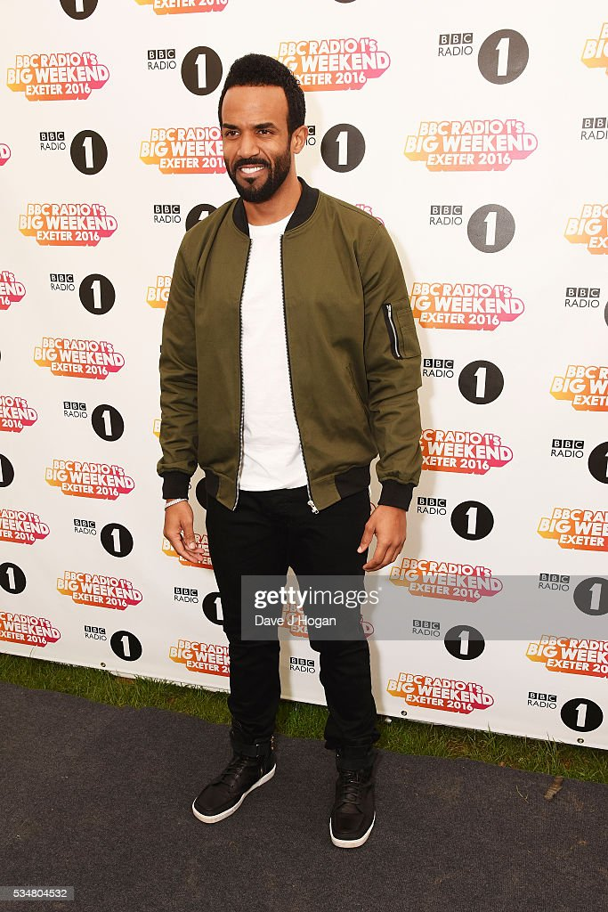 <a gi-track='captionPersonalityLinkClicked' href=/galleries/search?phrase=Craig+David&family=editorial&specificpeople=210646 ng-click='$event.stopPropagation()'>Craig David</a> poses for photos during day 1 of BBC Radio 1's Big Weekend at Powderham Castle on May 28, 2016 in Exeter, England.