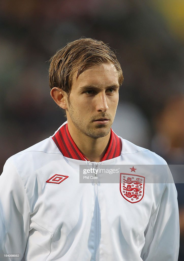 Craig Dawson of England stands during the Under 21 European Championship Play Off between England U21 and Serbia U21 at Carrow Road on October 12, 2012 in Norwich, England.