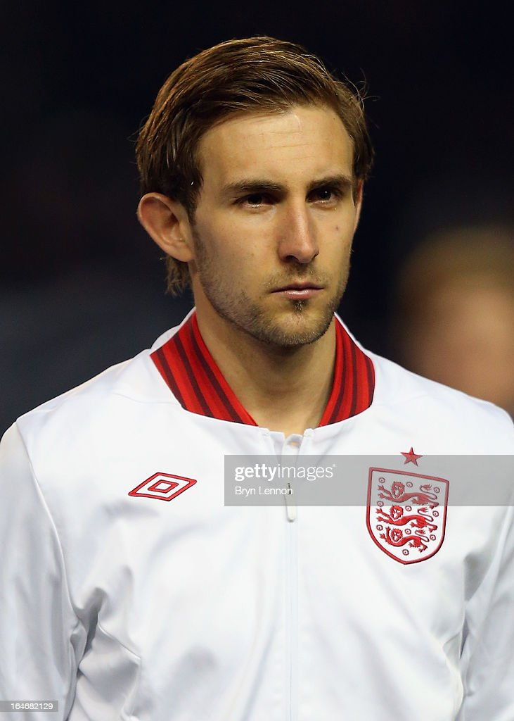 Craig Dawson of England stands for the national athems ahead during the International Friendly match between England U21 and Austria U21 at Amex Stadium on March 25, 2013 in Brighton, England.