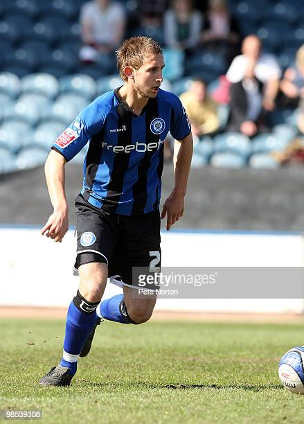 Craig Dawson of Rochdale in action during the Coca Cola League Two Match between Rochdale and Northampton Town at Spotland Stadium on April 17 2010...