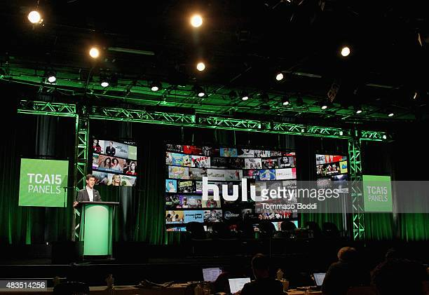 Craig Erwich SVP and Head of Content at Hulu speaks onstage at the Hulu 2015 Summer TCA Presentation at The Beverly Hilton Hotel on August 9 2015 in...