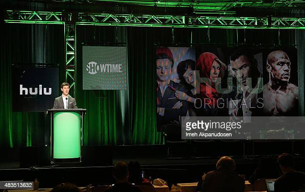 Craig Erwich SVP Head of Content at Hulu speaks onstage at the Hulu 2015 Summer TCA Presentation at The Beverly Hilton Hotel on August 9 2015 in...