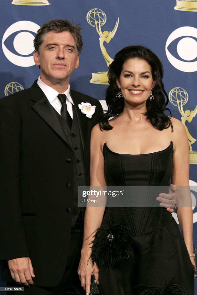 Craig Ferguson and Sela Ward, presenters during The 57th Annual Emmy Awards - Press Room at Shrine Auditorium in Los Angeles, California, United States.