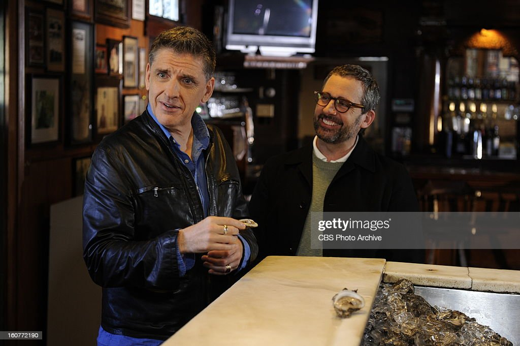 Craig Ferguson and Steve Carell visit Pascal's Manale Restaurant in New Orleans while filming THE CRAIG FERGUSON SUPER BOWL SPECIAL which airs Sunday, Feb. 3 (approximately 11:35 PM - 12:37 AM in most markets, following local news) on the CBS Television Network as part of the Network's SUPER BOWL XLVII lineup.