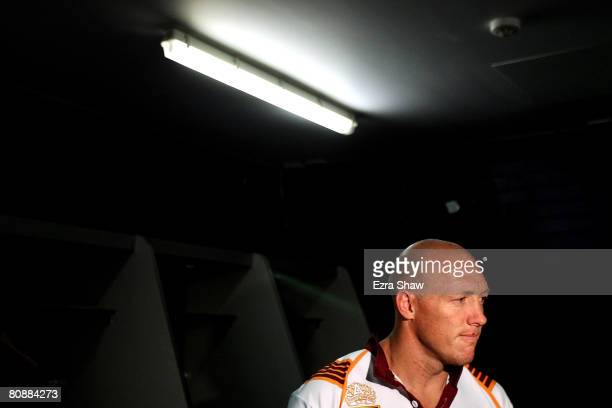 Craig Fitzgibbon of Country speaks to the media during the Country Origin team photocall at the Sydney Football Stadium on April 28 2008 in Sydney...